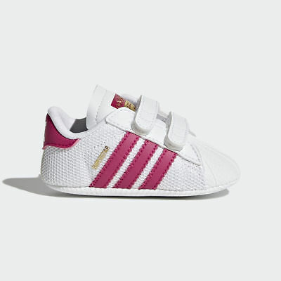 timeless design 5034a 42772 Girls Adidas Originals Superstar Shoes Crib Trainer White Pink S79917 Baby  Shoes