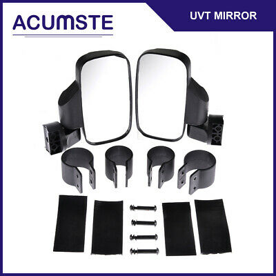 "Rear Mirror Set UTV ATV Side View High Impact Break Away 1.5"" - 2"" Roll Cage"