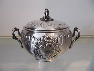 1900 french sterling silver sugar bowl for 2 rococo st 171g 6,03oz