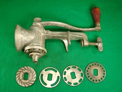 Nice Vintage  Winchester Repeating Arms Co. Usa No. W12 Meat Grinder + 4 Discs