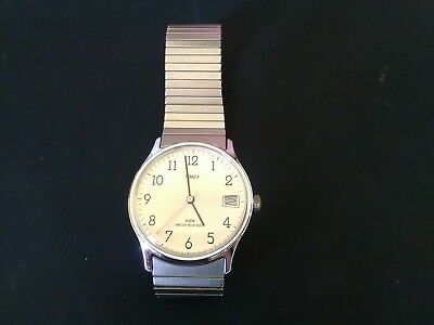 Mens Timex Hand Winding Watch with day section. Possibly Vintage.