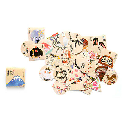 40Pcs Vintage Paper Sticker Decor Diy Diary Scrapbooking Sealing Stickers Toy RS