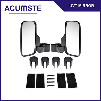 "Side Rear View Mirror Set UTV Offroad Break-Away Large Wide 1.6""-2"" Roll Cage"
