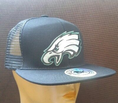 f9597593 Philadelphia Eagles The Birds Hat Black Mesh Back Adjustable Hat Flat Bill