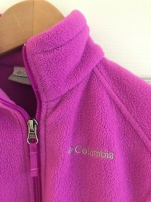 Pre-Owned Girls Columbia Fleece Jacket Size S 7/8 Pink