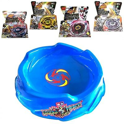 Ultimate Pegasus Beystadium Set 4 Beyblades w/ Launchers + Blue Stadium