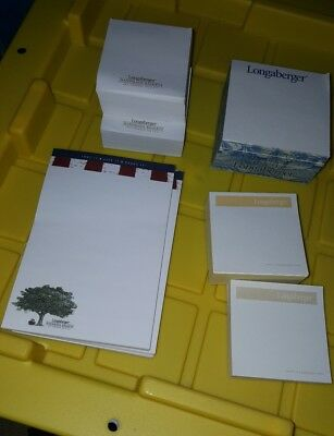Longaberger Lot of assorted Post It Notes Pads
