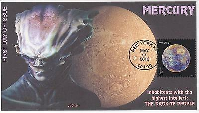Jvc Cachets - 2016 Views Of Our Planets Issue Fdc First Day Cover - Mercury