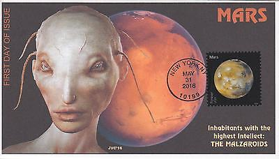 Jvc Cachets - 2016 Views Of Our Planets Issue Fdc First Day Cover - Mars