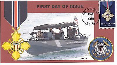 Jvc Cachets - 2016 Military Service Cross Issue First Day Cover Fdc Coast Guard