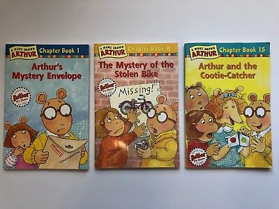 Lot Of 3 Arthur Marc Brown Chapter Paperback Books 1 8 And 15