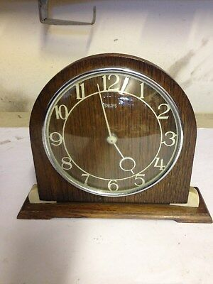 Lovely old Working Smiths Art Deco Winding Mantle clock