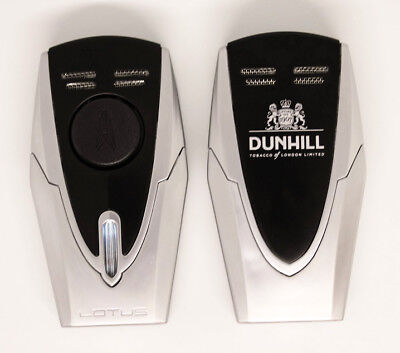 Lotus Fury Dual Torch Lighter, Chrome and Black, Dunhill Branded, NEW