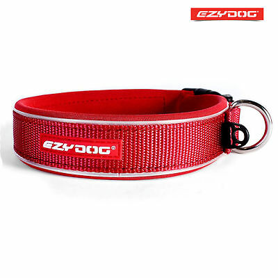 EzyDog Neo Classic Red Reflective Dog Collar