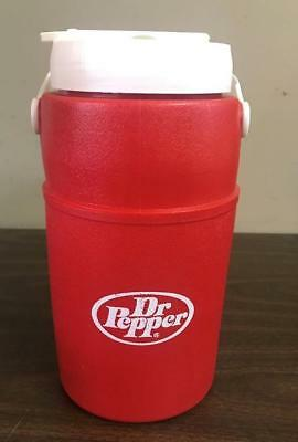 Dr Pepper Water Jug The Tough One Family Products 1980's 1 Quart Red & White