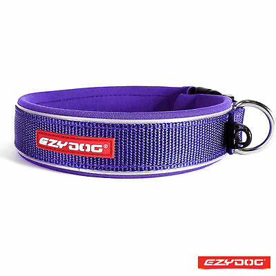 EzyDog Neo Classic Purple Reflective Dog Collar