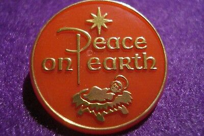 Peace On Earth Antique Pin__ Jesus Christ