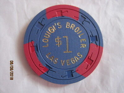 $1 Louigi's Broiler Las vegas Casino Chip
