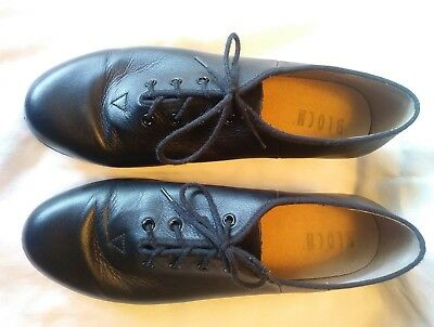 Bloch Lace Up Tap Shoes Black Leather Techno Tap Woman's Size 9.5