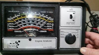 Vintage Sears Engine Analyzer 161.2161 12 Volt with Manual/Test Leads FREE SHIP