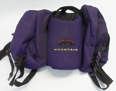Vintage Caribou Mountain Day Hiker Hiking Fanny Pack Purple Single Bottle
