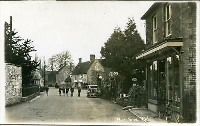 Real Photographic Postcard Of The High Street, Wylye (Near Salisbury), Wiltshire