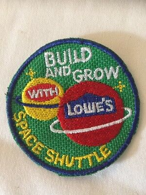 PATCH Badge Space Shuttle LOWES Build Grow Kids Clinic Patch