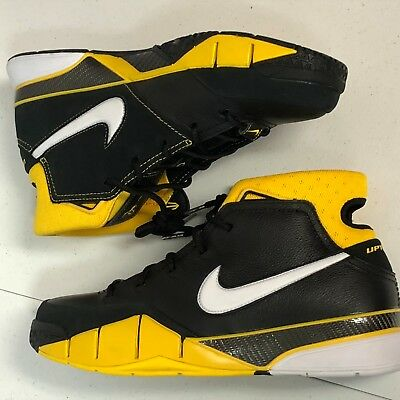 best service 5cba7 0a196 NIKE Kobe 1 Protro Black White Varsity Maize AQ2728 003- Men 10.5 New NoLid