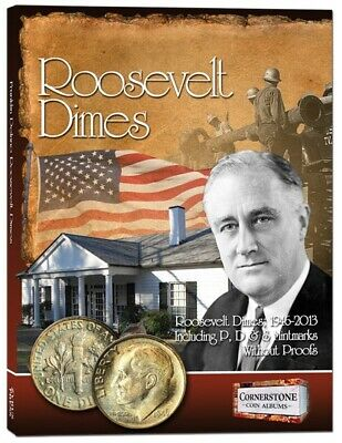 Album For US Roosevelt Dimes 1946-2013 PDS Full Color Pages Data Collector Gift