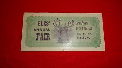 Lewistown Montana Bpo  Elks Lodge Poker Night Ad Note Old!