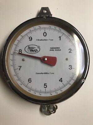 Vintage Accu-Weigh 20 lb Hanging Dial Scale