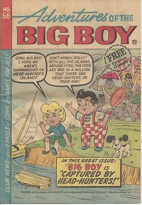 Adventures of the BIG BOY No. 66 - 1962 Giveaway Comic Book - Hard to FInd