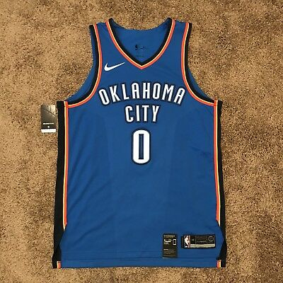 hot sale online cc57f 35e93 RUSSELL WESTBROOK AUTHENTIC OKC Thunder Jersey Nike 48 New