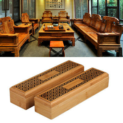 Double Layer Wooden Incense Stick Holder Box Joss Insence Burner Ash Catcher