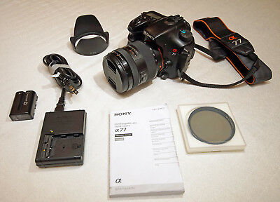 Sony Alpha SLT-A77 24.3MP DSLR + F2.8 16-50mm SSM Lens [Excellent Condition]