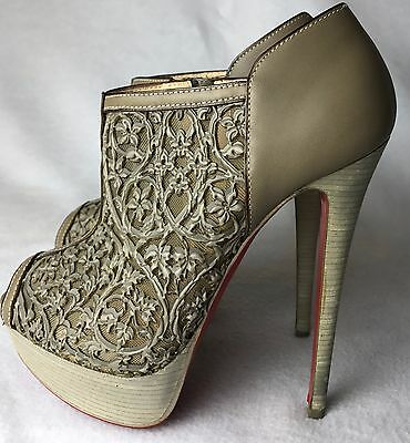 a7c63279d91 CHRISTIAN LOUBOUTIN COUSSIN 140 Caged Nappa Python / Leather Ankle ...