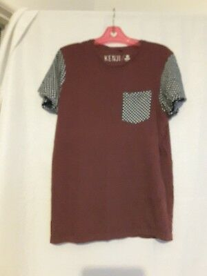 Kenji mens tee shirt size M suit more small