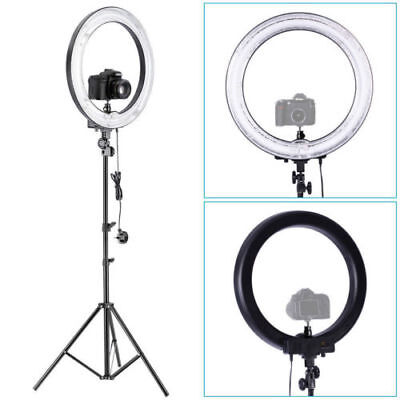 "Neewer Studio 18"" Dimmable 75W Ring Fluorescent Flash Light with Light Stand Kit"