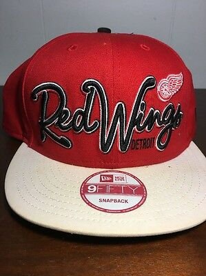 4450567790c Detroit Red Wings New Era SnapBack Hat 9FIFTY Snapback Cap One Size Fits  Most