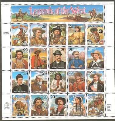 US Scott # 2869 - 1994 Legends of the West / Mint Sheet of 20