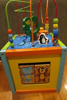 Imaginarium Wooden Play Activity Centre Cube Child Baby Toddler Toy Fun! EUC