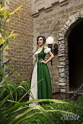 IDD Renaissance Medieval Irish Costume Over Dress & Boho Chemise Set