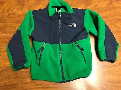 Toddlers Lightly Worn The North Face Green Full Zip Fleece Denali Jacket Size 3T