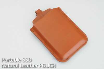 Portable SSD Natural Cow Leather Premium pouch  Made In Korea