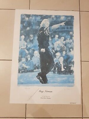 * GREG NORMAN * golf hand signed  picture.