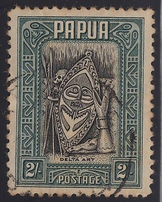 Papua 1932 Pictorials 2 shilling, used