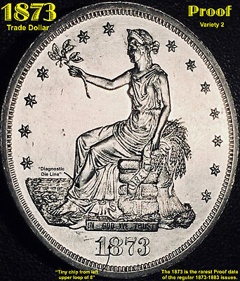 1873 Trade Dollar  **proof/unc.** Rarest Of The Regular 1873-1883 Issues!!