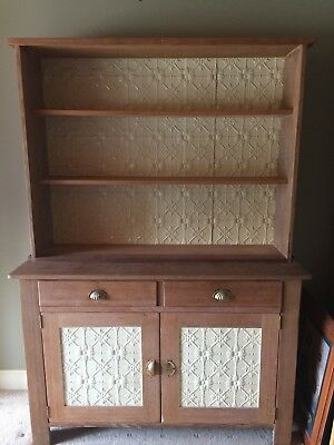 kitchen hutch dresser - ,tin backing and in doors