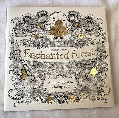 Adult Coloring Enchanted Forest An Inky Quest Book Johanna Basford 2015