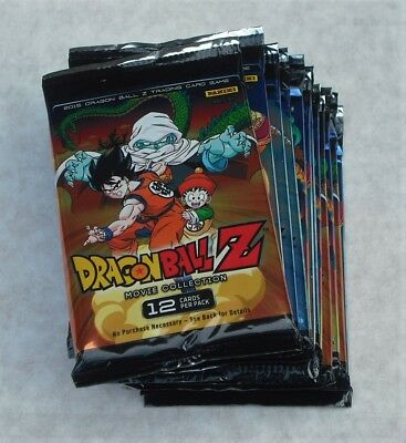 Panini Dragonball Z Movie Collection Lot Of 24 Booster Packs New & Sealed